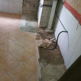 Hacking Of Concrete Sink And Stove Support/ Dapoh Slab