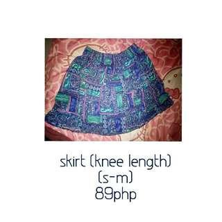 Blue Skirt - Preloved