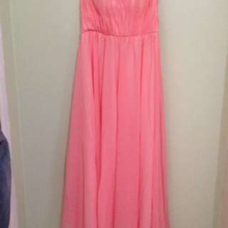 Peach Tube Gown