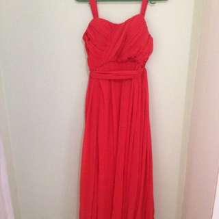 Tangerine Soft Strap Gown