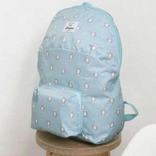 折疊式後背包(藍色企鵝)