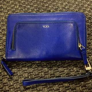 Authentic Rare TUMI Leather Wristlet With RFID Protection