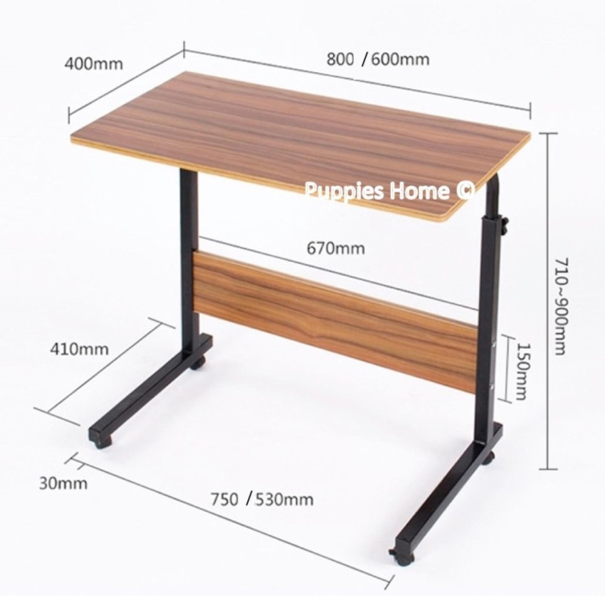 80cmx40cm wheel laptop table study portable bed desk pc notebook lazy wooden wood stand holder computer lap foldable riser adjustable couch plastic