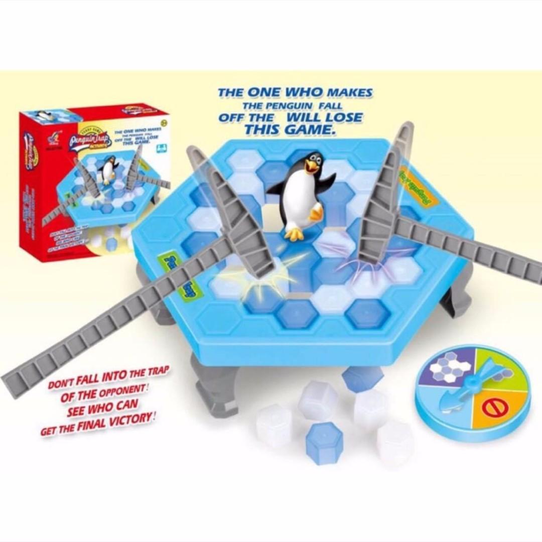 拯救企鵝 敲打企鵝 企鵝敲冰塊 親子桌遊