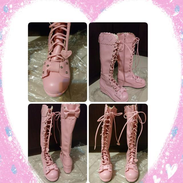 賠售)夢展望 Lolita lizlisa mussa 粉紅長靴
