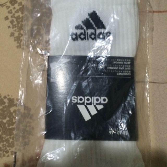Adidas 白色長襪,全新27-29號#adidas