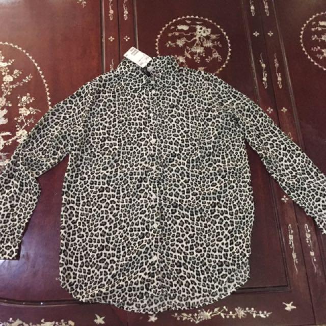 Animal Print Polo Shirt