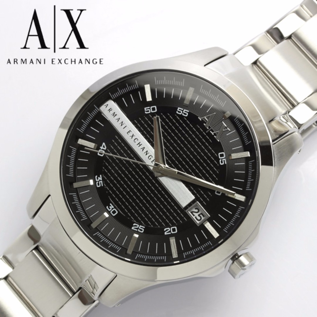 f1115996ca9 Armani Exchange Black Dial Stainless Steel Men s Watch AX2103
