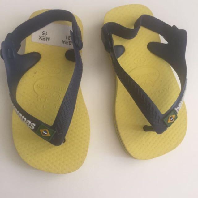 Baby Havaianas Yellow/Blue