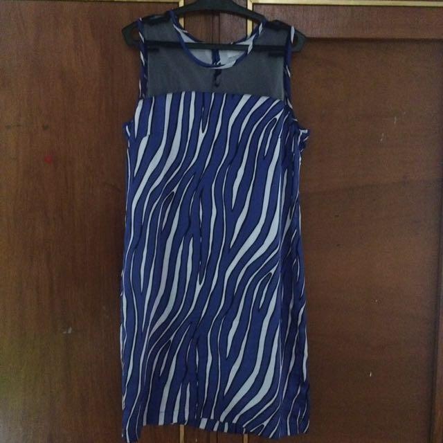 Bayo Blue Dress Small