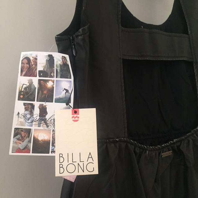 Black Faux Leather Dress