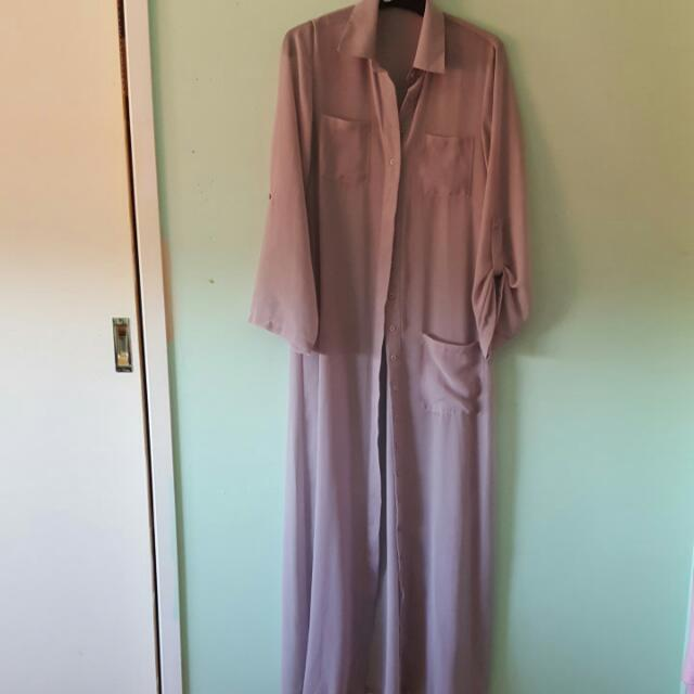 BOOHOO maxi shirt dress