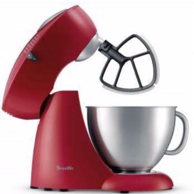 Breville Red Cherry Scraper Mixer