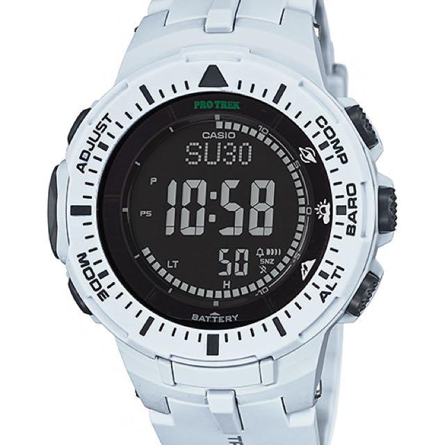 Casio Pro Trek PRG-300-7CR Cool White [Not: G Shock G-shock Apple Watch Smartwatch Fibit Galaxy Gear Samsung Fitness Tracker]