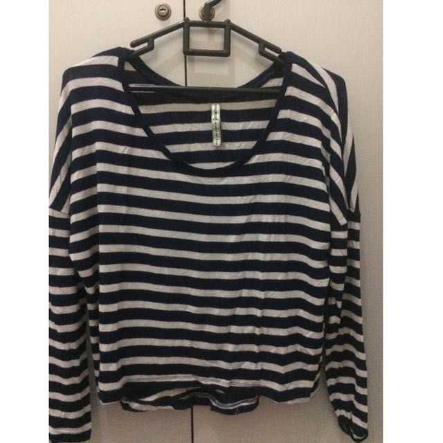 Stradivarius Crop Stripe