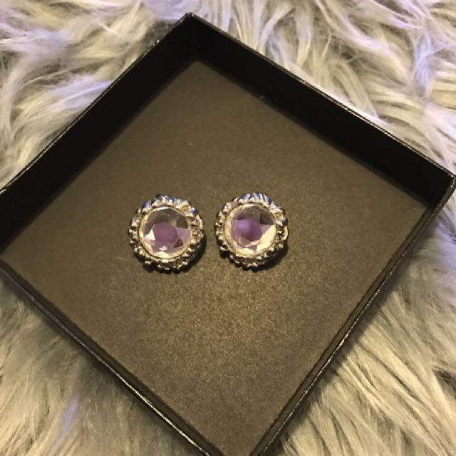 Crystal Earrings Brand New