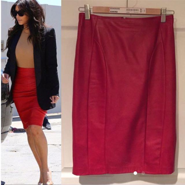 ✨SALE✨ DANIER Leather Pencil Skirt