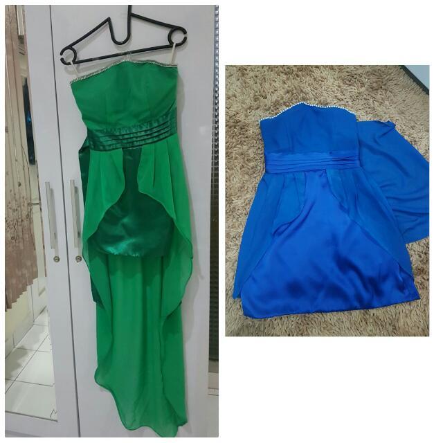 Dress pesta Biru NEW