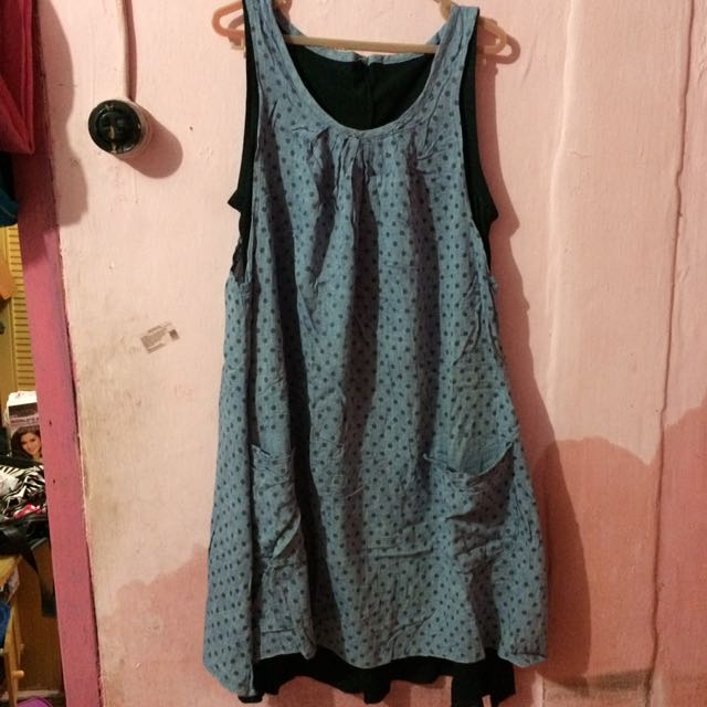 Dress Polka Grey