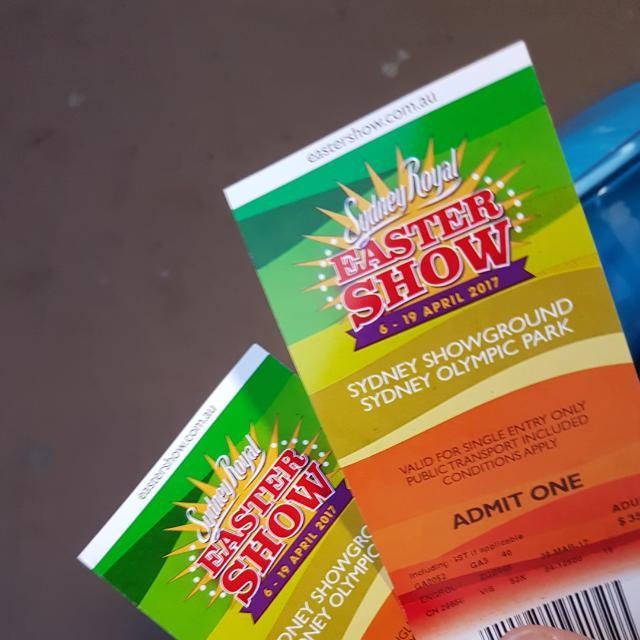 EASTER SHOW TICKETS!!