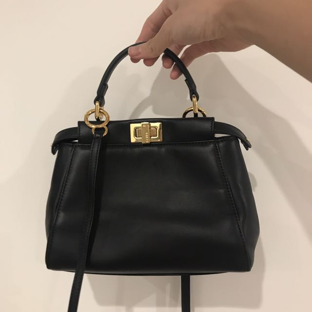 70ec818af30f Fendi peekaboo mini black with gold hardware