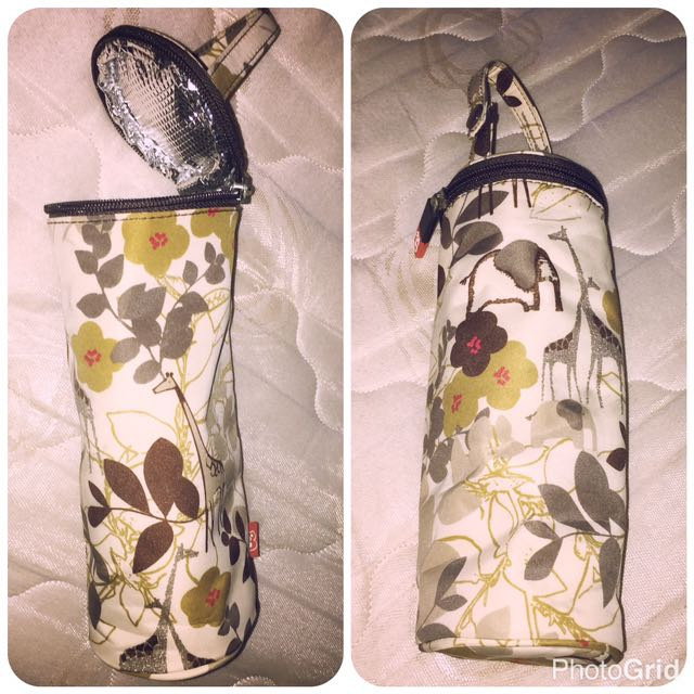 Floral Insulated Bottle Bag