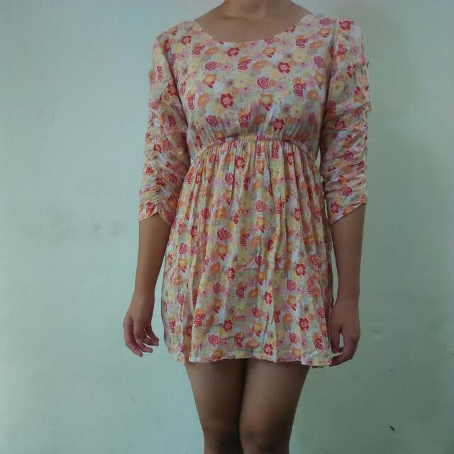 [REPRICE]Flower Backless Dress