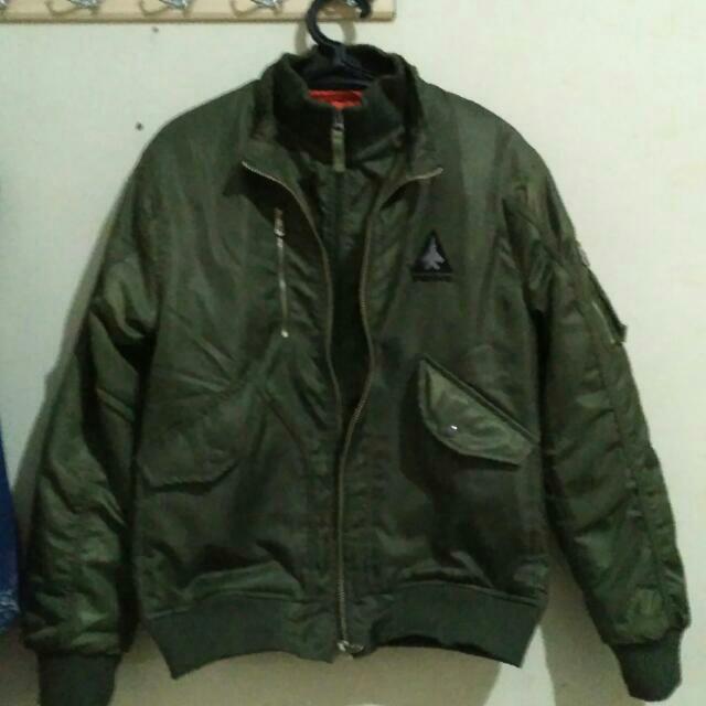 Green Khaki Bomber Jaket - Repost Rsv