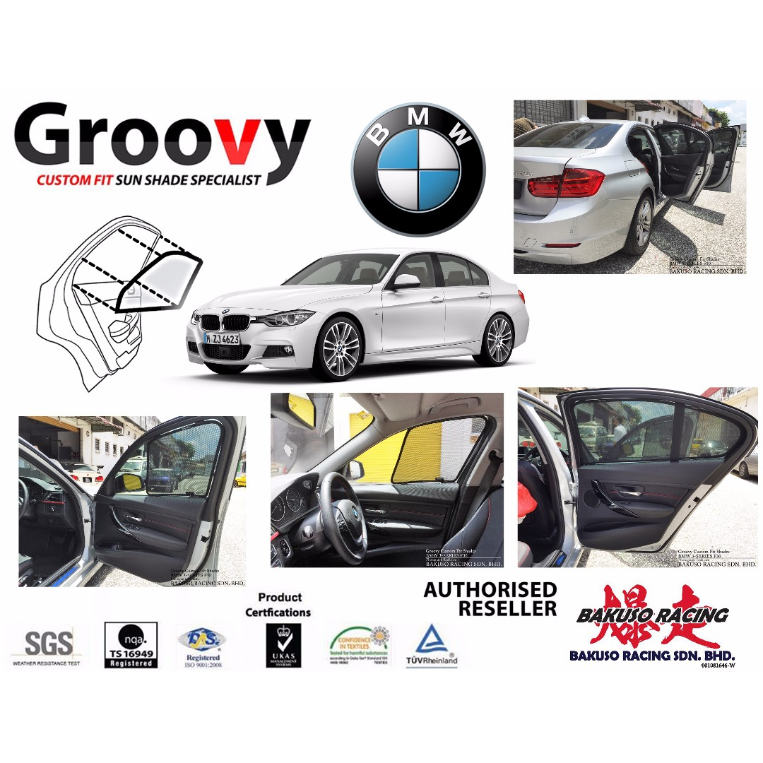 Groovy Custom Fit Sunshades For BMW 3 Series F30