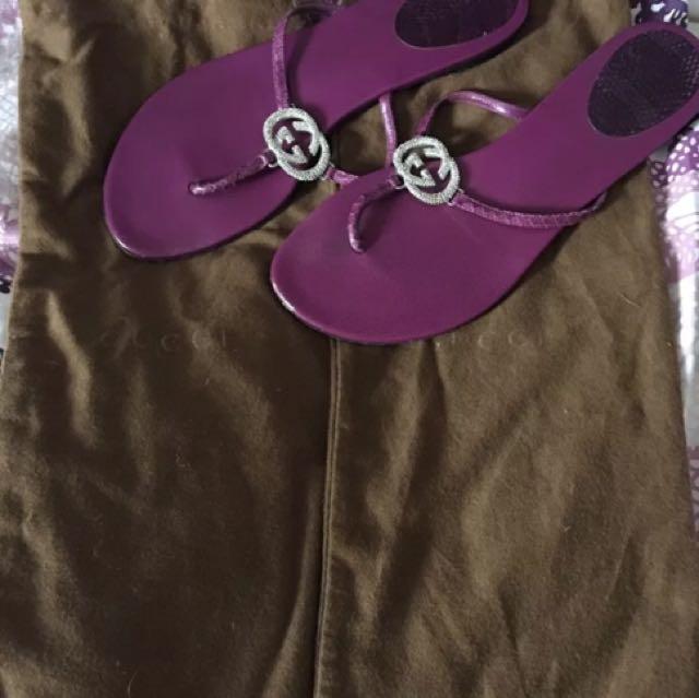 Gucci Rhinestone Sandals