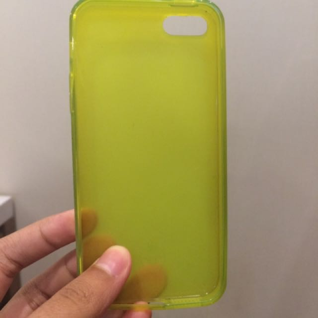 iphone 5/ 5s case green soft case