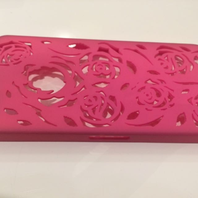 iphone 5/ 5s case rose pink hard case