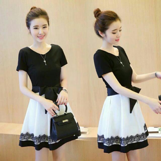 Korean Ribbon Dress