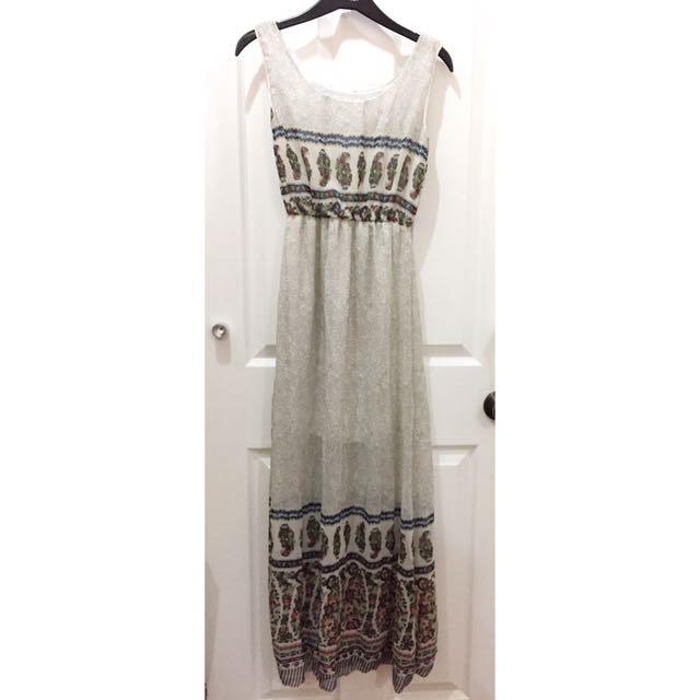 Korean Style Maxi Dress