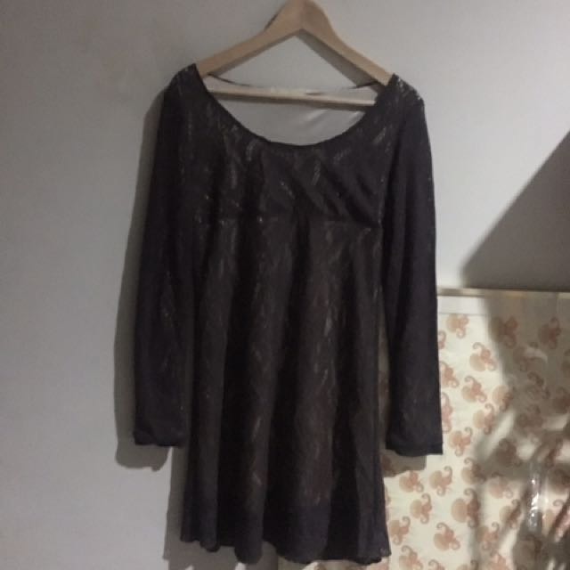 Lace Satin Dress - Japan