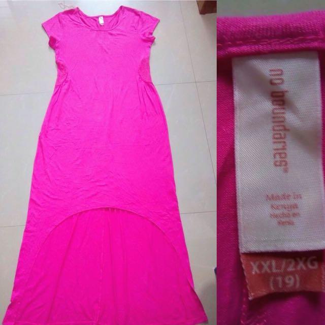 Long Back Pink Dress