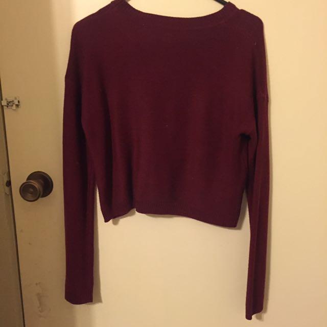 Maroon Knit Wear