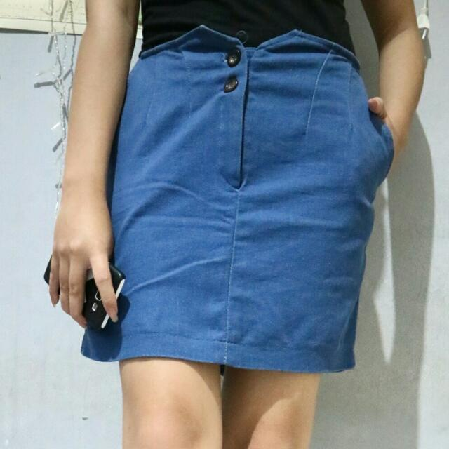 Mini Blue Skirt