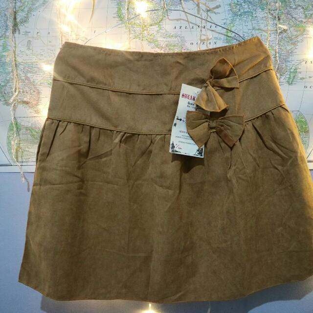 Mini Brown Skirt