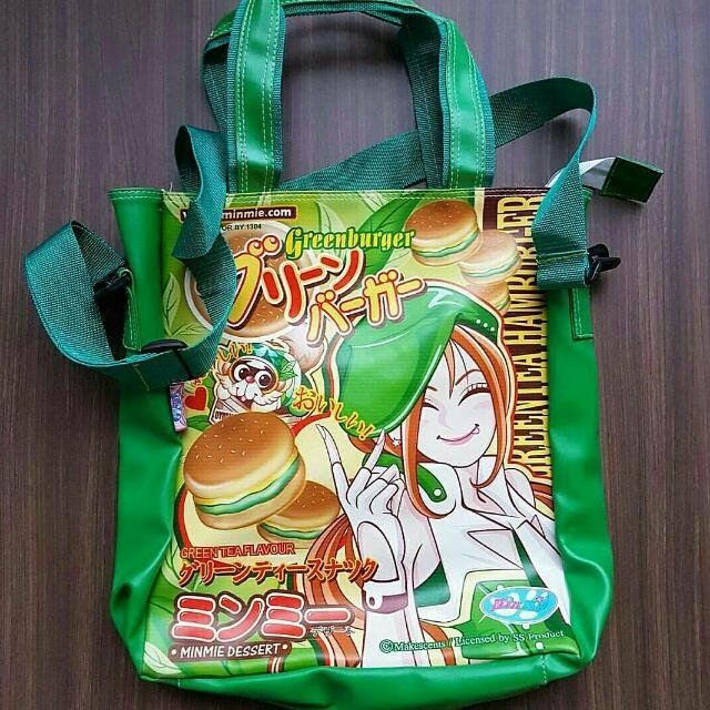 Minmie Teen Girl Green Tote Bag Kids Drawing Art