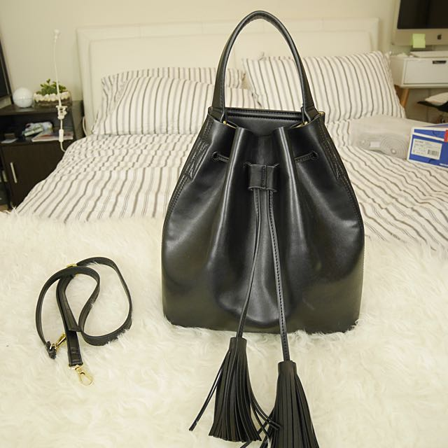 MNG Med Size Bucket Bag With Tassels