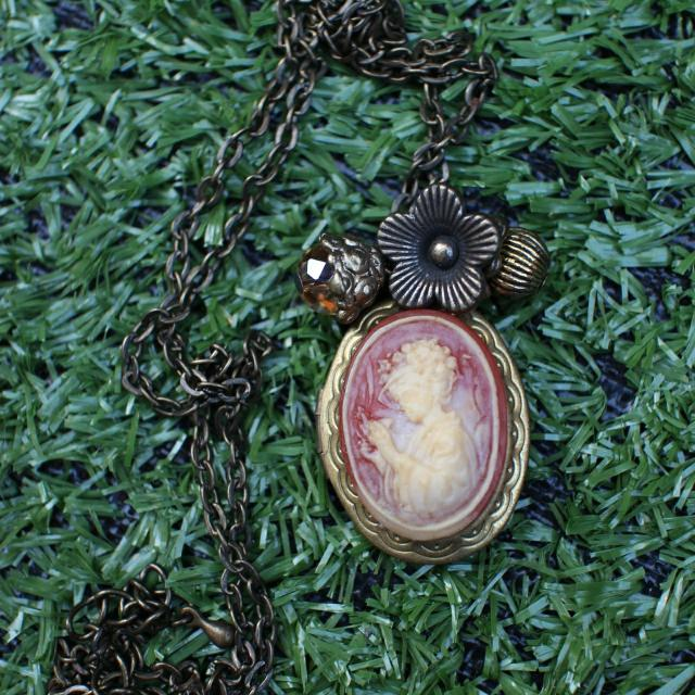 Necklace With Cameo Locket