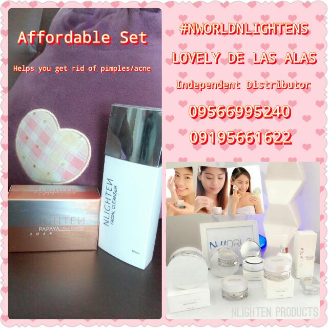 Nlightens facial Cleanser and Kojic Soap