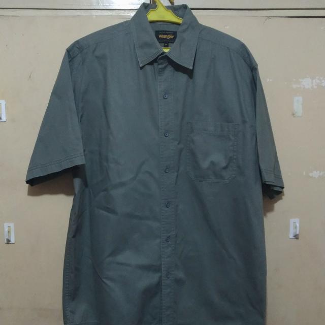 Olive Short Sleeves Polo - Wrangler
