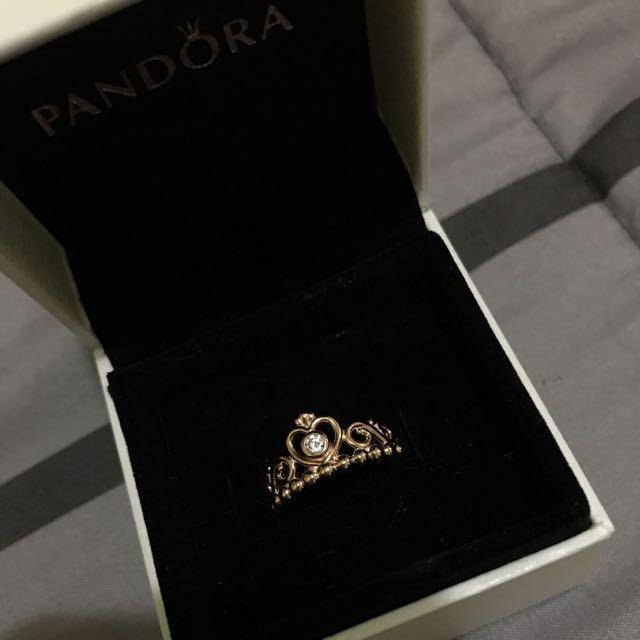 PANDORA ROSEGOLD PRINCESS RING