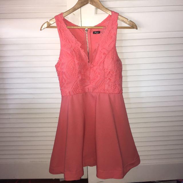 Peach Skater Dress