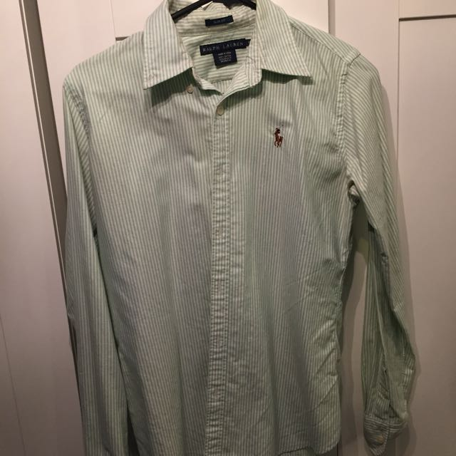 Ralph Lauren Pinstripe Riding Style Women's Shirt
