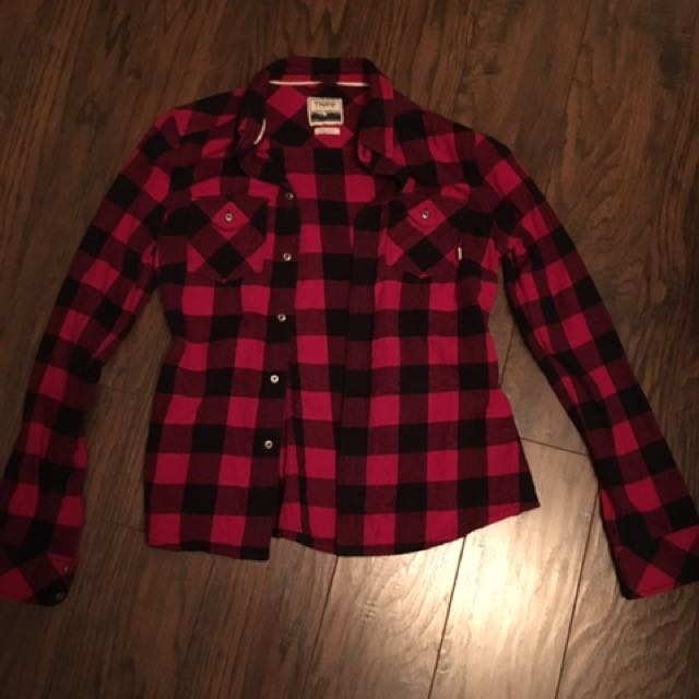 Red And Black TNA plaid Shirt
