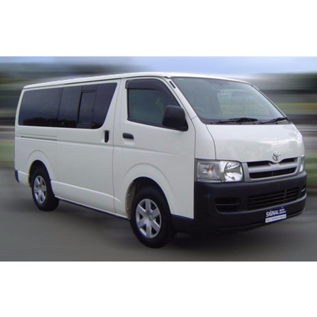 Rental Of Brand New Toyota Hiace