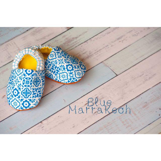 Sepatu Bayi (Blue Marrakech Baby Shoes)
